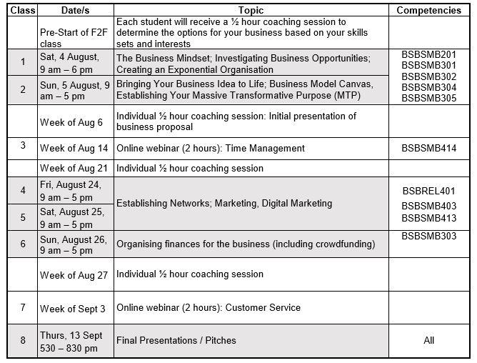 bsb30315 schedule August 2018